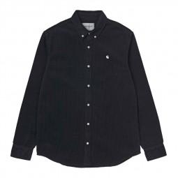 Chemise Carhartt Madison Cord Shirt bleu marine
