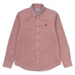Chemise Carhartt Madison Cord Shirt rose