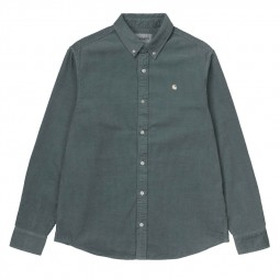 Chemise velours côtelé Carhartt Madison Cord Shirt vert gris