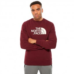 Sweat col rond The North Face Drew Peak bordeaux