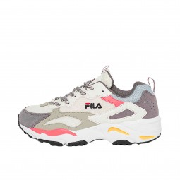 Chaussures Fila Ray Tracer femme blanc, gris, rose