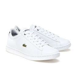 Chaussures Lacoste Carnaby Junior blanc bleu marine