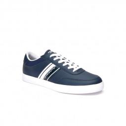 Chaussures Lacoste Court-Master Junior bleu marine / blanc
