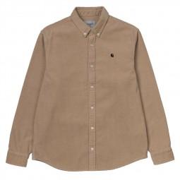Chemise velours côtelé Carhartt Madison Cord Shirt beige