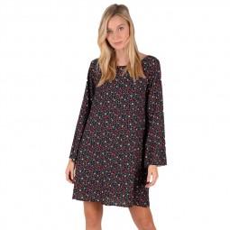 Robe courte Molly Bracken noire à fleurs