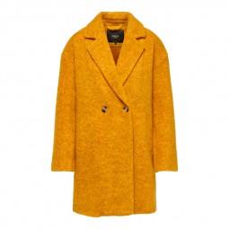 Manteau en laine Only Nina Celeste jaune