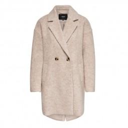 Manteau en laine Only Nina Celeste gris rosé