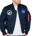 Bombers Alpha Industries NASA bleu marine