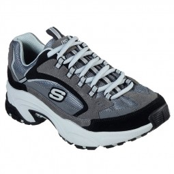 Chaussures Skechers femme Stamina gris noir
