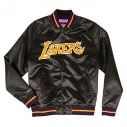 Blouson Satin Mitchel & Ness Lakers noir jaune