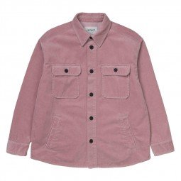 Surchemise velours côtelé Carhartt Erie Shirt Jac rose