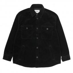 Surchemise velours côtelé Carhartt Erie Shirt Jac noire