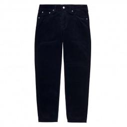 Pantalon velours côtelé Carhartt Newel Pant bleu marine