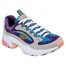 Chaussures Skechers femme Stamina bleu violet