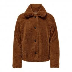 Veste peluche Only Emily Teddy Jacket marron