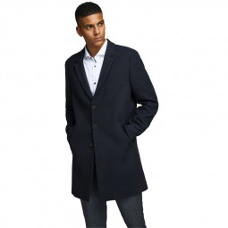 Manteau Jack & Jones Moulder Wool Coat bleu marine