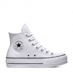 Converse cuir montantes blanches