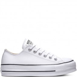Converse cuir basses blanches