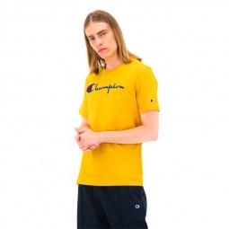 T-shirt Champion logo brodé jaune