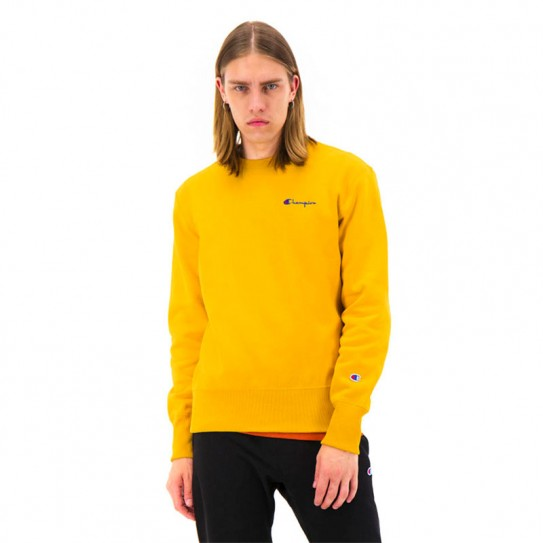 new release low price sale low price Sweat col rond homme logo brodé Champion jaune | Fred Aston