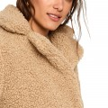 Manteau fourrure synthétique Noisy May beige