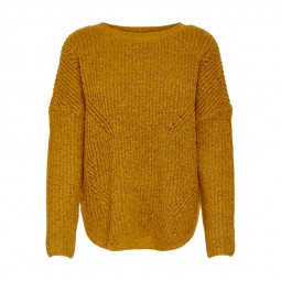 Pull en maille Only Bernice Pullover ocre