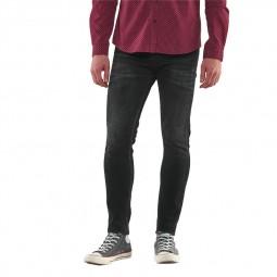 Jeans Le Temps Des Cerises Power Skinny noir délavé