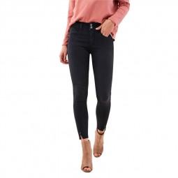 Jeans Salsa Secret Push In capri noir délavé