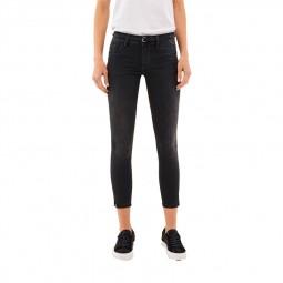 Pantalon Salsa Wonder Push Up Capri noir délavé