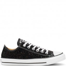 Converse basse brillantes Galaxy Dust noir