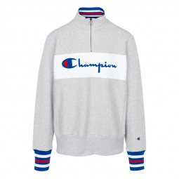 Sweat col zippé Champion gris