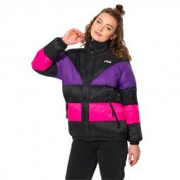 Doudoune Fila femme Reilly Puff Jacket noir, rose, violet