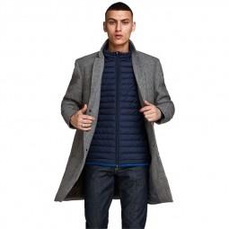 Manteau Jack & Jones Moulder Check Coat carreaux noir blanc