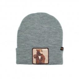 Bonnet Goorin Bros Lover Bear gris patch ours