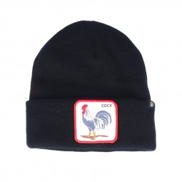 Bonnet Goorin Bros Cock noir patch coq