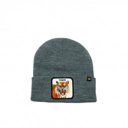 Bonnet Goorin Bros Tiger gris patch tigre