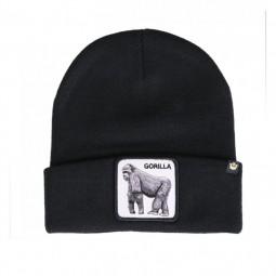 Bonnet Goorin Bros Gorilla noir patch gorille