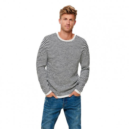 Pull à rayures en maille Only & Sons Sato 5