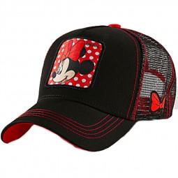 """Casquette Capslab Disney """"Minnie"""" rouge noir"""