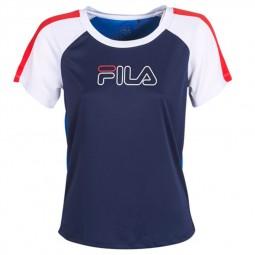 T-shirt Fila Irene Gym Tee bleu, blanc, rouge