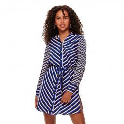 Robe Only à motifs bleu