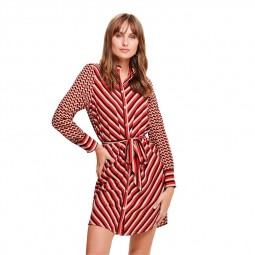 Robe Only à motifs rouge