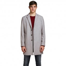Manteau Jack & Jones Moulder Wool Coat gris clair