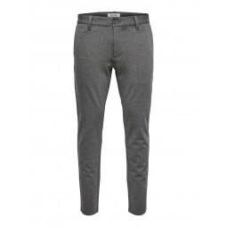 Pantalon Only & Sons rayé gris clair