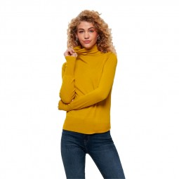 Pull en maille col roulé Only Venice Rollneck moutarde