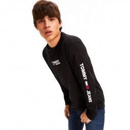 T-shirt manches longues Tommy Jeans noir