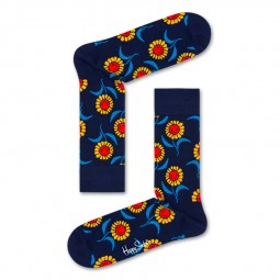 Chaussettes Happy Socks Sunflower bleu marine