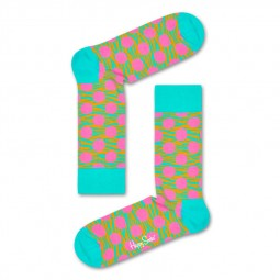 Chaussettes Happy Socks Tiger Dot turquoise tigré à point