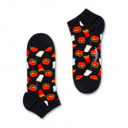 Socquettes Happy Socks Hamburger noires