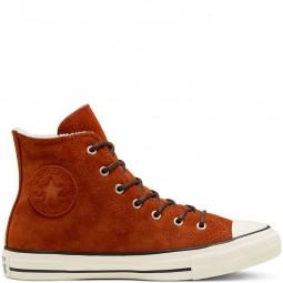 Converse sherpa en cuir marron